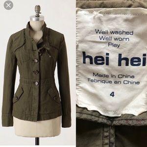 Anthropologie Hei Hei Elkanah Jacket olive size 4